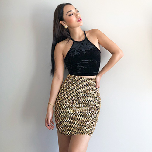 Full Sequin Skirt