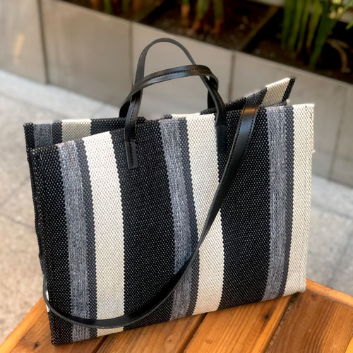 Stripe black bag