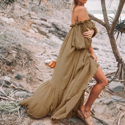 Brown long dress